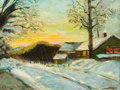 Paintings, EDMUND WILLIAM GREACEN (American, 1877-1949). Short Hills, NJ, 1910. Oil on canvas. 12 x 16 inches (30.5 x 40.6 cm). Sig...