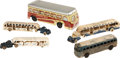 Antiques:Toys, Lot of Five Bus Toys Including Three 1933 Chicago Century of Progress Models.... (Total: 5 Items)
