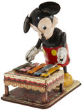 Antiques:Toys, Linemar Windup Xylophone Playing Mickey Mouse....