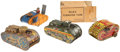 Antiques:Toys, Lot of Four Marx Windup Tank Toys.... (Total: 4 Items)