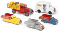 Antiques:Toys, Large Lot of Five Pressed Steel Toy Trucks.... (Total: 5 Items)