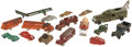 Antiques:Toys, Large Lot of Toy Cars, Trucks, Trailers, Buses and Tanks....(Total: 18 Items)