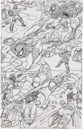 Original Comic Art:Miscellaneous, Gil Kane Web of Spider-Man Annual #6Preliminary Page 16 Original Art (Marvel, 199...