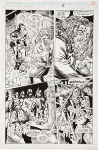 Dale Eaglesham and Pat Redding The Punisher: Back to School Special #2 page 8 Original Art (Marvel, 1993).... (Total: 2...