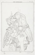 Original Comic Art:Splash Pages, Ron Garney Captain America and Iron Man Splash Original Art(undated)....