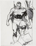 Original Comic Art:Sketches, Ron Garney Superman Sketch Original Art (2004)....