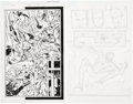 Original Comic Art:Panel Pages, Ron Garney and Bill Reinhold Amazing Spider-Man #532 page 9and a Penciled Spider-Man/Captain America Page Origina... (Total: 2Items)