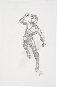 "Ralph ""Rags"" Morales Nightwing Pencil Illustration Original Art (undated)"