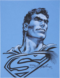 Neal Adams Superman Illustration Original Art (undated)