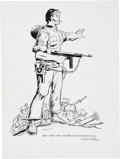 Original Comic Art:Illustrations, Dick Ayers Sgt. Fury and His Howling Commandos Illustration Original Art (2008)....