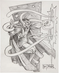 Frank Brunner Doctor Strange Sketch Original Art (2008)
