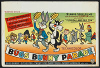 "Bugs Bunny Parade (Warner Brothers, 1960s). Belgian (15"" X 22""). Animated"