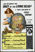 """Movie Posters:Horror, Orgy of the Living Dead (Europix International, 1972). One Sheets(2) (27"""" X 41""""), Ad Slick (5.5"""" X 9.25""""), and """"Insurance P...(Total: 4 Items)"""