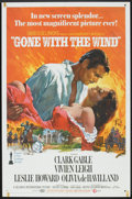 """Movie Posters:Romance, Gone with the Wind (MGM, R-1968). One Sheet (27"""" X 41""""). Romance....."""
