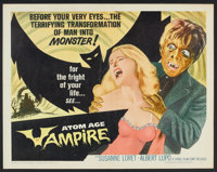 "Atom Age Vampire Lot (Topaz, 1963). Half Sheet (22"" X 28"") and Pressbook (Multiple Pages) (12"" X 18""..."
