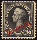 Stamps, $1 Black, Type II (223A),...