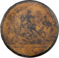"Political:3D & Other Display (pre-1896), William Henry Harrison: ""Battle of Tippecanoe"" Papier-Mâché Snuff Box...."