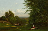 The Hon. Paul H. Buchanan, Jr. Collection  GEORGE INNESS (American, 1825-1894) Near Leeds, New York</