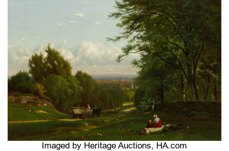 The Hon. Paul H. Buchanan, Jr. CollectionGEORGE INNESS (American, 1825-1894)Near Leeds, New York, 1869Oil on can...