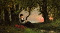 Fine Art - Painting, European:Antique  (Pre 1900), AUGUSTE-PAUL-CHARLES ANASTASI (French, 1820-1889). SummerRepose, 1876. Oil on panel. 6 x 9-3/4 inches (15.2 x 24.8cm)...