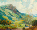 Fine Art - Painting, American:Modern  (1900 1949)  , GEORGE DEMONT OTIS (American, 1879-1962). Mahbra Mountains.Oil on canvas. 30 x 24 inches (76.2 x 61.0 cm). Signed lower...