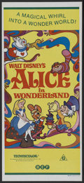 "Movie Posters:Animated, Alice in Wonderland (Buena Vista, R-1974). Australian Daybill (13"" X 30""). Animated. Starring Kathryn Beaumont, Ed Wynn, Ric..."