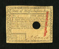 Colonial Notes:Massachusetts, Massachusetts May 5, 1780 $2 Very Fine, HOC....