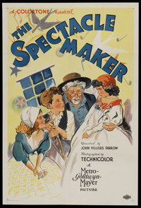 """The Spectacle Maker (MGM, 1934). One Sheet (27"""" X 41""""). Short Subject. Starring Nora Cecil, Harvey Clark, Cora..."""