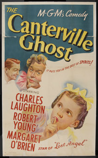 "The Canterville Ghost (MGM, 1944). Three Sheet (41"" X 68.5""). Comedy. Starring Charles Laughton, Robert Young..."