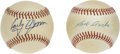 Autographs:Baseballs, Bob Avila and Early Wynn Single Signed Baseballs. Mexico's BobbyAvila played most of his career with the Cleveland Indians ...