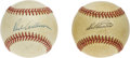 Autographs:Baseballs, Richie Ashburn and Del Ennis Single Signed Baseballs. Among themost consistent lead-off hitters in the majors, Richie Ashb...