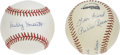 Autographs:Baseballs, Pee Wee Reese and Buddy Hassett Single Signed Baseballs. Pee WeeReese was possible the best shortstop to ever play the gam...