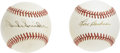 Autographs:Baseballs, Lou Boudreau and Duke Snider Single Signed Baseballs Lot of 2. Twoof the most revered men in baseball during their time in...