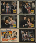 """Movie Posters:Drama, The Loves of Edgar Allan Poe (20th Century Fox, 1942). Title Lobby Card (11"""" X 14"""") and Lobby Cards (5) (11"""" X 14""""). Drama. ... (Total: 6)"""