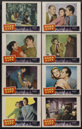 "Movie Posters:Crime, Dark City (Paramount, 1950). Lobby Card Set of 8 (11"" X 14"").Crime. Starring Charlton Heston, Lizabeth Scott, Viveca Lindfo...(Total: 8)"