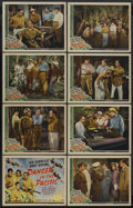 "Movie Posters:Adventure, Danger in the Pacific (Universal, 1942). Lobby Card Set of 8 (11"" X14""). Adventure. Starring Leo Carrillo, Andy Devine, Don... (Total:8)"