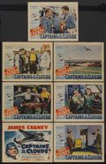 """Movie Posters:War, Captains of the Clouds (Warner Brothers, 1942). Title Lobby Card(11"""" X 14"""") and Lobby Cards (6) (11"""" X 14""""). War. Starring...(Total: 7)"""