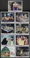 "Movie Posters:Animated, Snow White and the Seven Dwarfs (Buena Vista, R-1975). Lobby CardSet of 9 (11"" X 14""). Animated. Starring Adriana Caselotti...(Total: 9)"