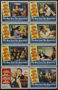 "Movie Posters:Drama, The Bad and the Beautiful (MGM, 1950). Lobby Card Set of 8 (11"" X14""). Drama. Starring Lana Turner, Kirk Douglas, Walter Pi...(Total: 8)"