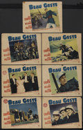 "Movie Posters:Adventure, Beau Geste (Paramount, 1939). Lobby Cards (7) (11"" X 14"").Adventure. Starring Gary Cooper, Ray Milland, Robert Preston,Bri... (Total: 7)"