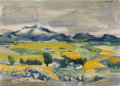 Fine Art - Painting, American:Contemporary   (1950 to present)  , SUZANNE SCHWEIG MARTYL (American, b. 1918). MountainLandscape, 1950. Oil on canvas. 20 x 28 inches (50.8 x 71.1cm). Si...