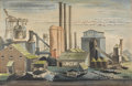 Works on Paper, JOSEPH VAVAK (American, 1899-1999). American Industry, 1942. Watercolor on paper. 14-3/4 x 21 inches (37.5 x 53.3 cm) wi...