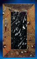Lapidary Art:Tables / Tabletops, INLAID FOSSIL TABLETOP. ...