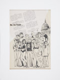 Original Comic Art:Illustrations, Sal Amendola We, the People... Illustration Original Art (1986)....