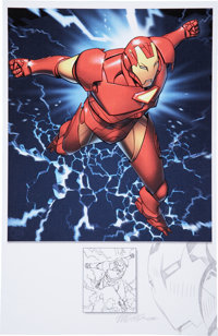 Michael Golden Remarqued Iron Man Print (2008)