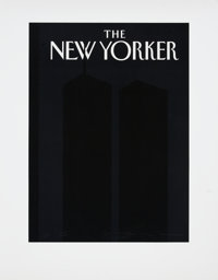 Art Spiegelman New Yorker Twin Towers Cover Print, 3/20 (2001)