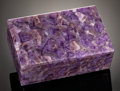 Lapidary Art:Boxes, TRANSLUCENT AMETHYST BOX. ...