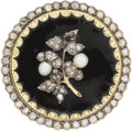 Estate Jewelry:Brooches - Pins, Diamond, Pearl, Enamel, Gold Brooch. ...