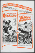 """Movie Posters:Action, The Invincible Gladiator/The Giant of Metropolis Combo Lot (Seven Arts, 1963). One Sheet (27"""" X 41"""") and Lobby Card Sets of ... (Total: 13 Items)"""