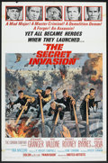 "Movie Posters:War, The Secret Invasion (United Artists, 1964). One Sheet (27"" X 41"").War.. ..."